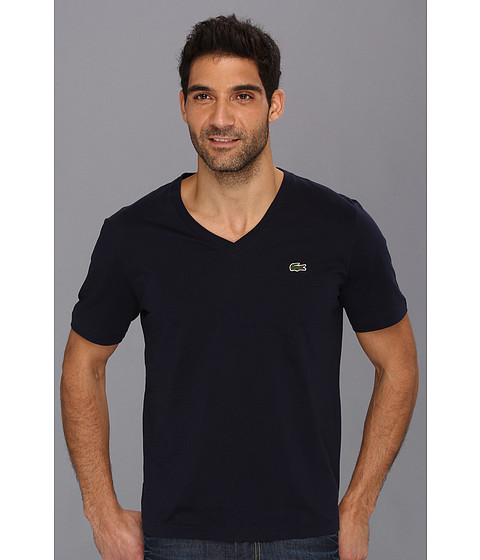 Lacoste L!VE Short Sleeve V-Neck T-Shirt