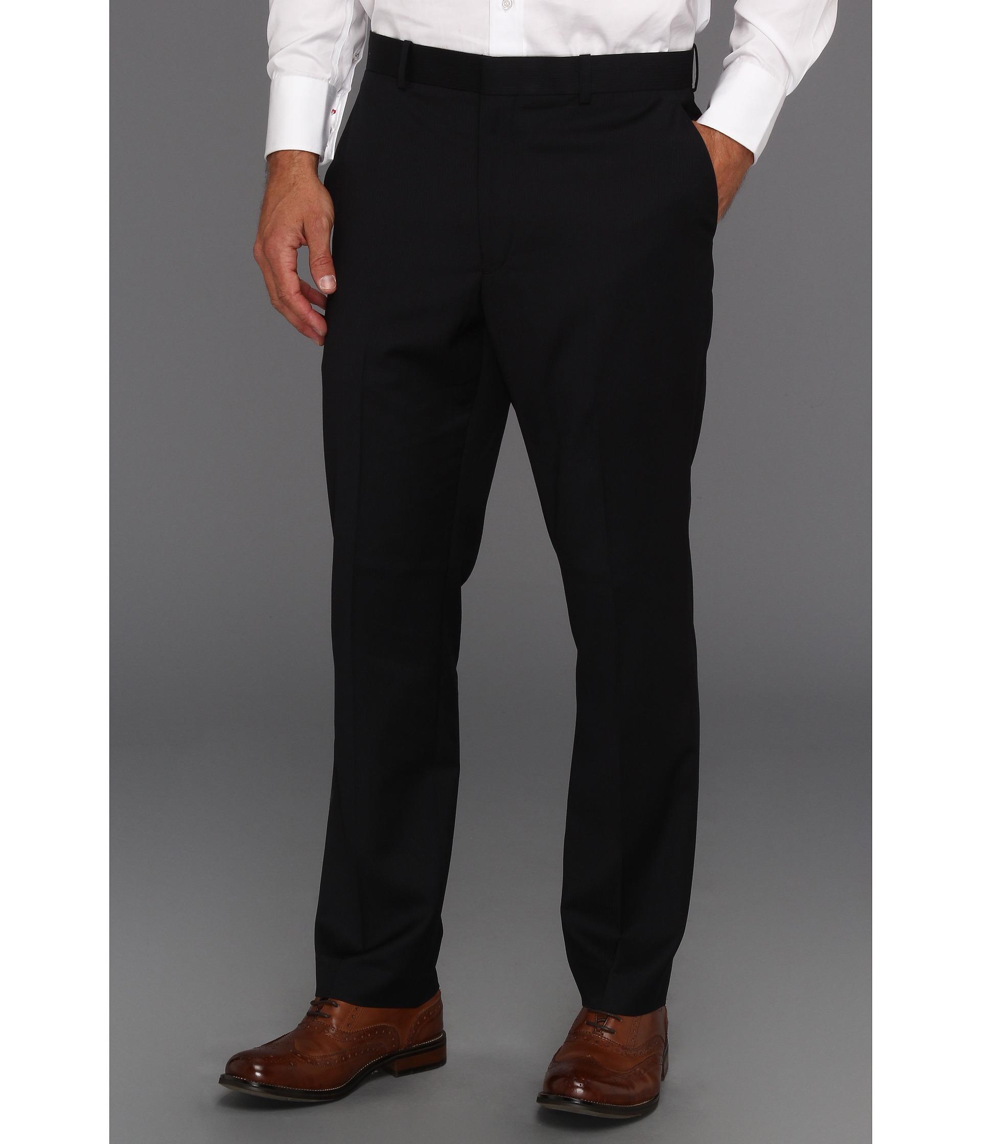 Perry Ellis Portfolio - Slim Fit Mini Stripe Pant