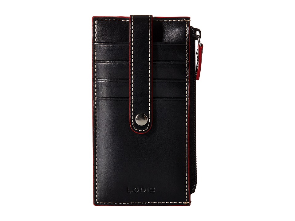 Lodis Accessories - Audrey 5 Credit Card Case w/Zipper Pocket (Black) Credit card Wallet