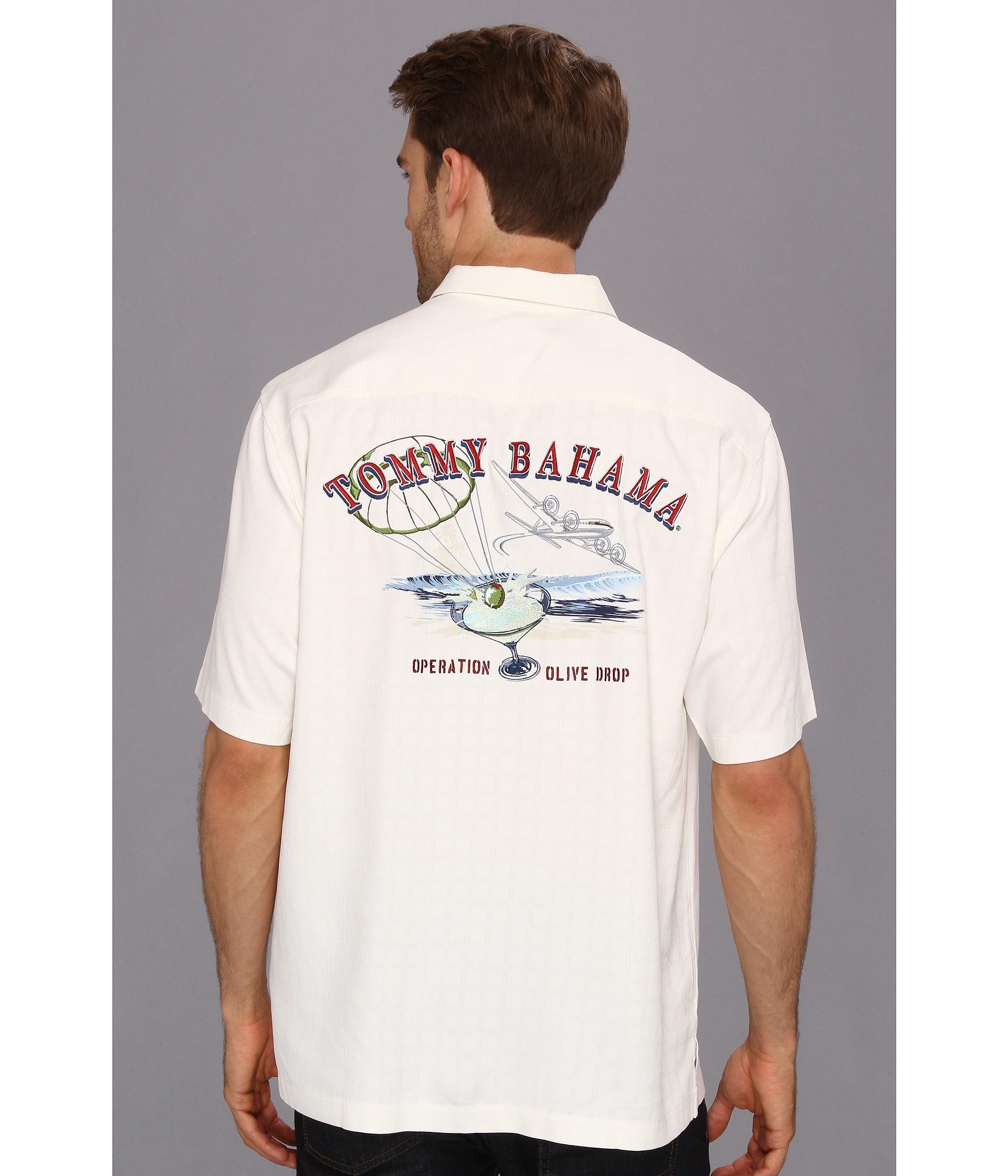 Tommy Bahama Operation Olive Drop Camp Shirt Shipped