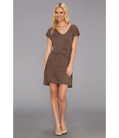 C&C California - Faux Suede Cap Sleeve Dress