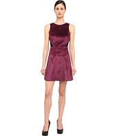 tibi - Stretch Viscose Velvet Sleeveless Dress W/ Mesh Back