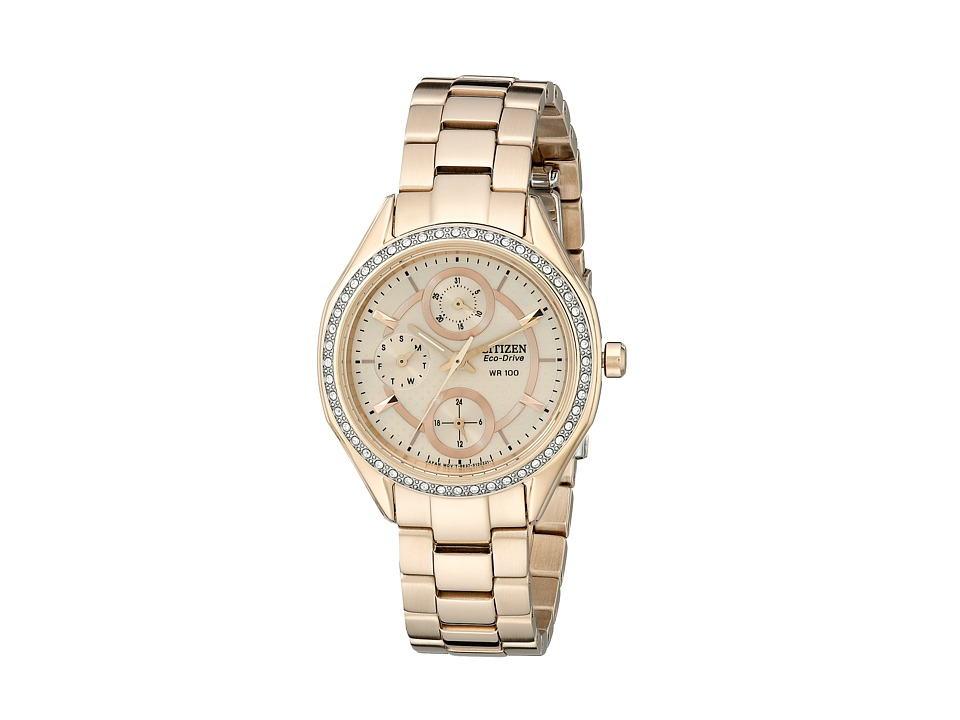 Citizen Watches - FD1063-57X Eco-Drive POV 2.0 Rose Gold Tone Swarovski Crystal Watch (Rose Gold Two Tone Stainless Steel) Watches