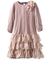 Biscotti - Shimmering Rose Drop Waist Dress (Big Kids)