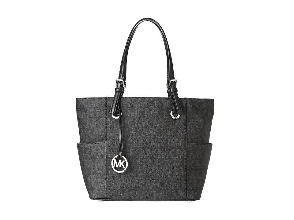 MICHAEL Michael Kors - Jet Set East/West Signature Tote (Black) Tote Handbags