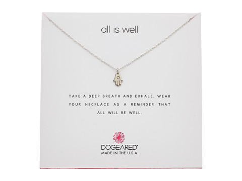 Dogeared All is Well Hamsa Reminder Necklace - Sterling Silver