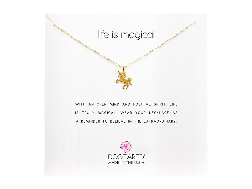 Dogeared Life is Magial Unicorn Reminder Necklace Gold Necklace