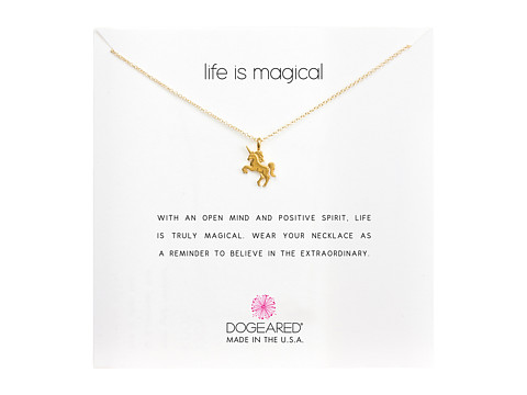 Dogeared Life is Magial Unicorn Reminder Necklace - Gold