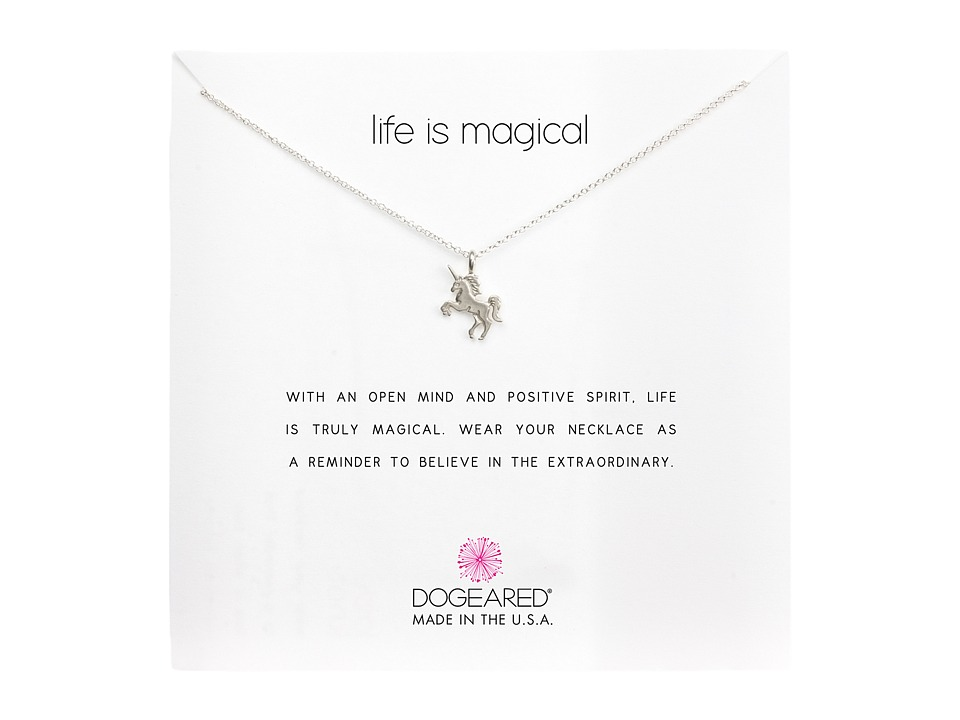 Dogeared Life is Magial Unicorn Reminder Necklace (Sterli...