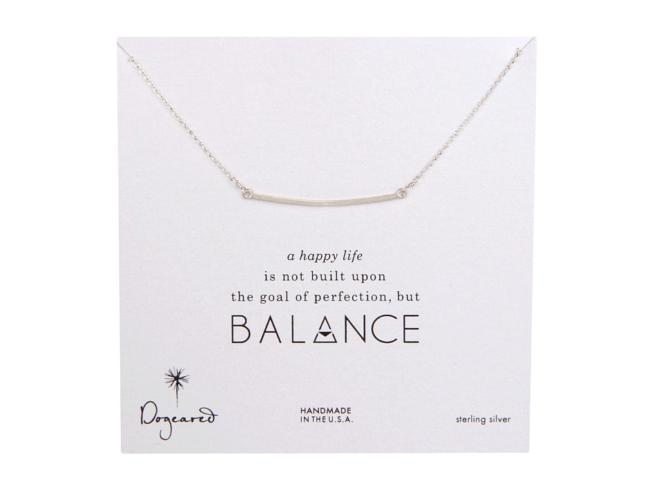 Dogeared Balance Large Square Bar Necklace Sterling Silver Necklace