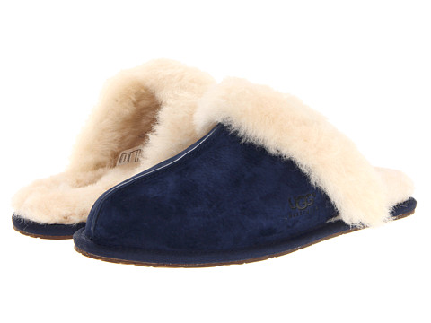 Shop UGG online and buy UGG Scuffette II Midnight Footwear - Zappos.com is proud to offer the UGG - Scuffette II (Midnight) - Footwear: A wonderful house or travel slipper with minimal, yet plush styling. ; Natural sheepskin lining wicks moisture away from your feet. ; 100% Premium wool fleece trim collar. ; Easy on-and-off wear for all-day comfort. ; Durable rubber outsole with the UGG Australia logo embossed on it. ; Please Note: Slight dye transfer may occur with darker colored sheepskin during first few wears. Measurements: ; Weight: 8 oz ; Product measurements were taken using size 9, width B - Medium. Please note that measurements may vary by size.