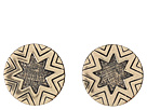 Two-Tone Engraved Sunburst Stud