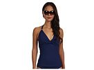LAUREN Ralph Lauren - Laguna Solids Twist Halterkini Top w/ Molded Cup (Bright Indigo)