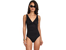 LAUREN Ralph Lauren Laguna Solids Ruffle Underwire Tank Swimsuit w/ Slimming Fit