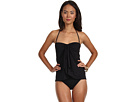 LAUREN Ralph Lauren - Laguna Solids Flyaway Strapless Swimsuit (Black)