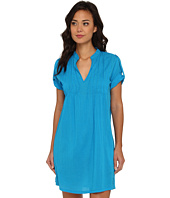 LAUREN by Ralph Lauren - Crushed Cotton Cover-Up S/S Darcy Tunic