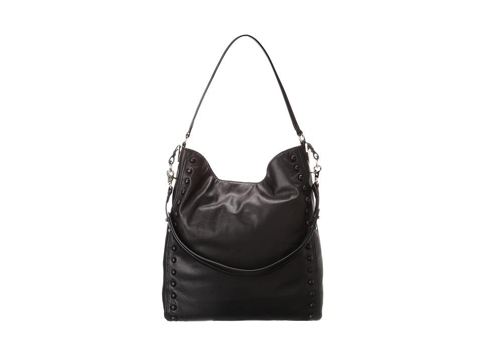 Loeffler Randall Hobo NST Black Nappa/Black Studs Hobo Handbags