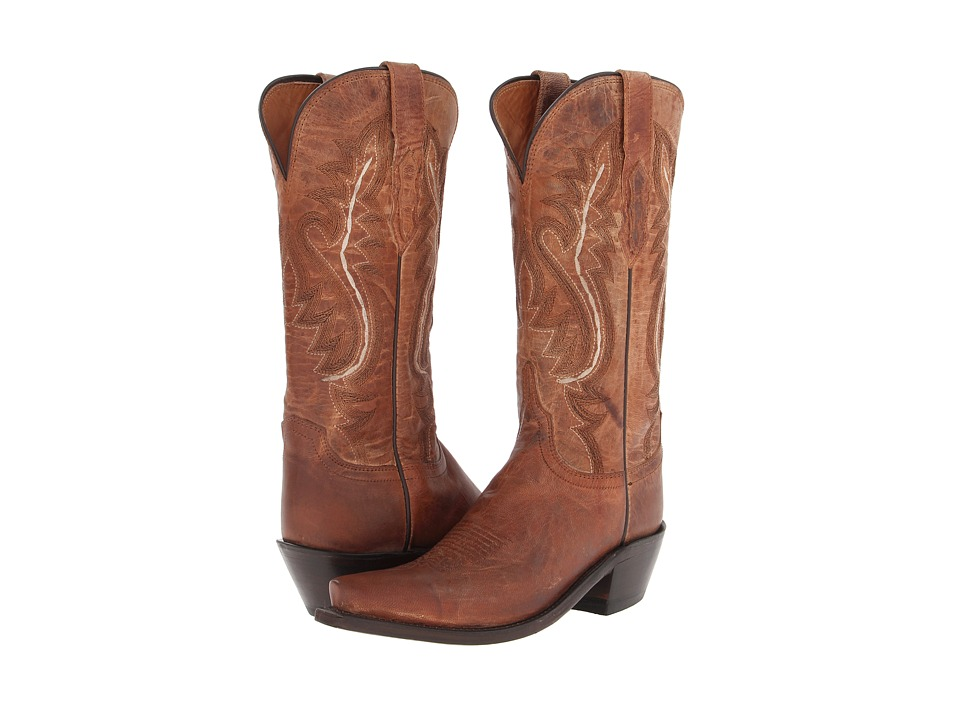 Lucchese - M4999.S54 (Tan Mad Dog Goat) Cowboy Boots