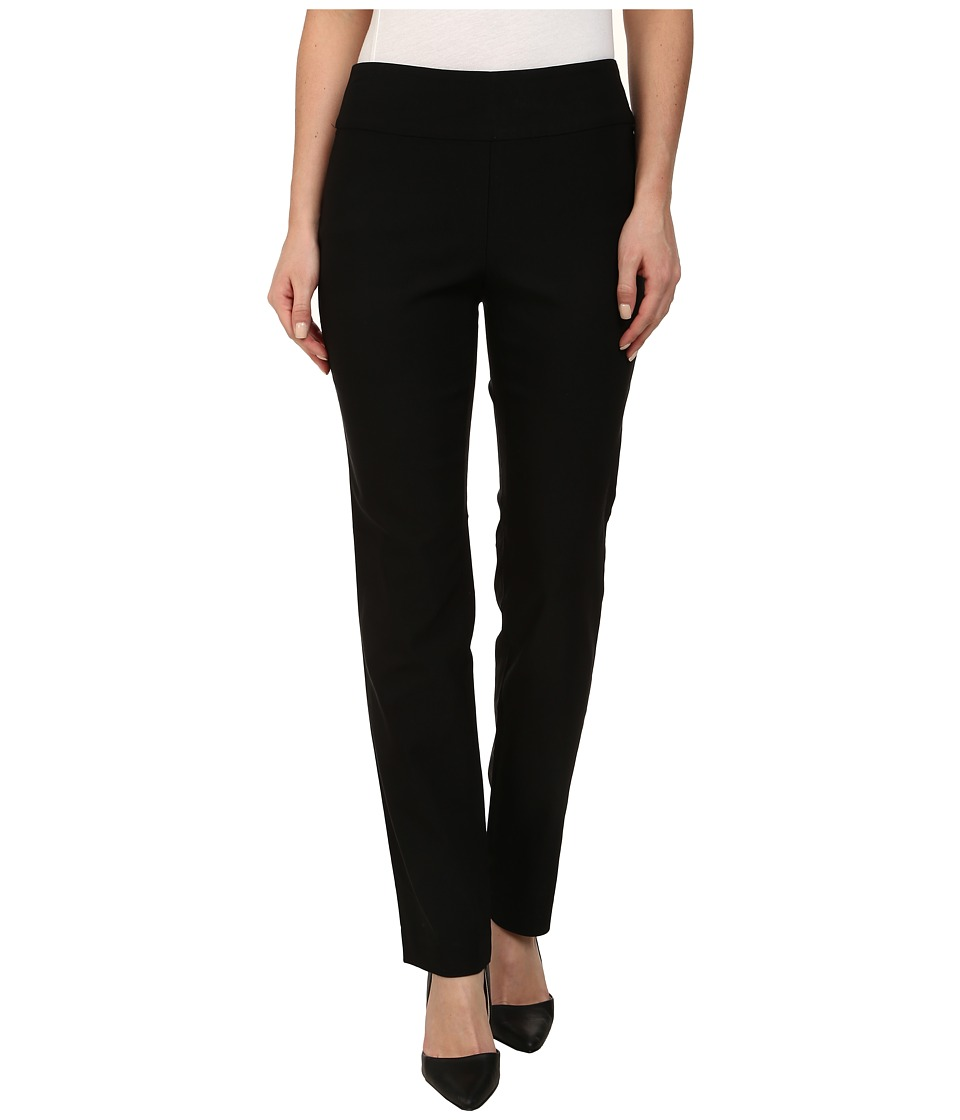 NIC+ZOE - Wonder Stretch Pant (Black Onyx) Womens Casual Pants
