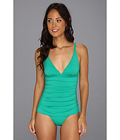 Tommy Bahama - Pearl Solids OTS V Neck One-Piece