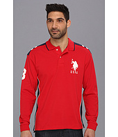 U.S. POLO ASSN. - Long Sleeve Pique Polo with Big Pony