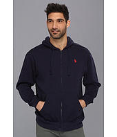 U.S. POLO ASSN. - Full Zip Long Sleeve Hoodie with Small Pony
