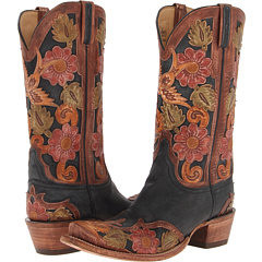 L4690.S53 (Black Tooled Eden) Cowboy Boots