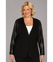 Vince Camuto - Plus Size Pleather Sleeve Jacket