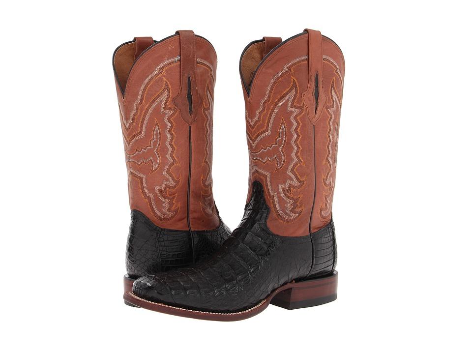 M4537 (Black Hornback Caiman/Cognac Mad Dog Palo Duro) Cowboy Boots