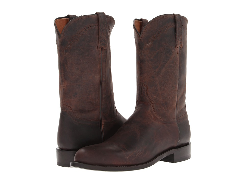 Lucchese - M1018.C2 (Chocolate Madras Goat Roper) Cowboy Boots