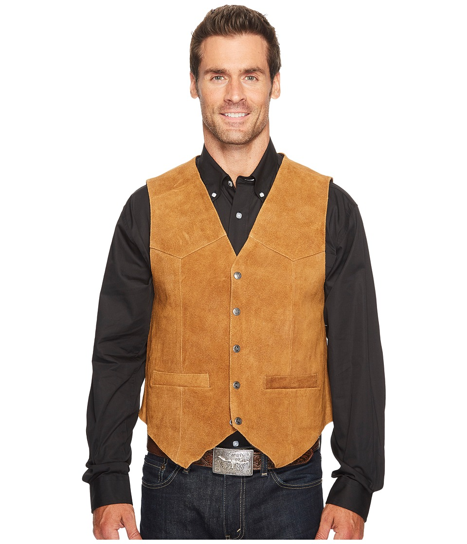 Scully - Rugged Calf Suede Vest (Rust) Mens Vest