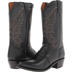 M2900.J4 (Black Saddle Vamp Lizard) Cowboy Boots