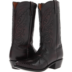M2901.J4 (Black Cherry Saddle Vamp Lizard) Cowboy Boots