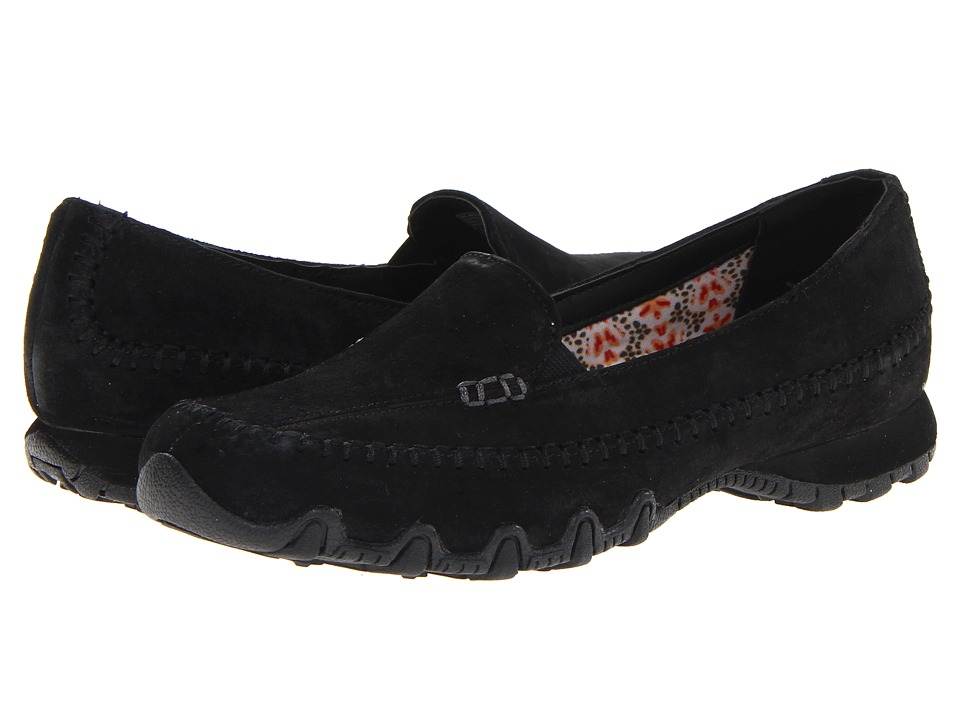 SKECHERS - Relaxed Fit(r): Bikers - Pedestrian (Black) Womens Shoes