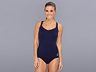 TYR - Solid Halter Controlfit Swimsuit (Navy) - Apparel<br />
