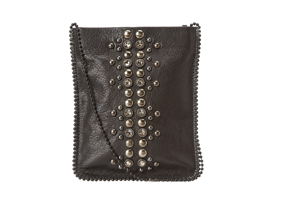Leatherock - Cell Pouch/Crossbody (Black/Hemonite/Grey) Bags