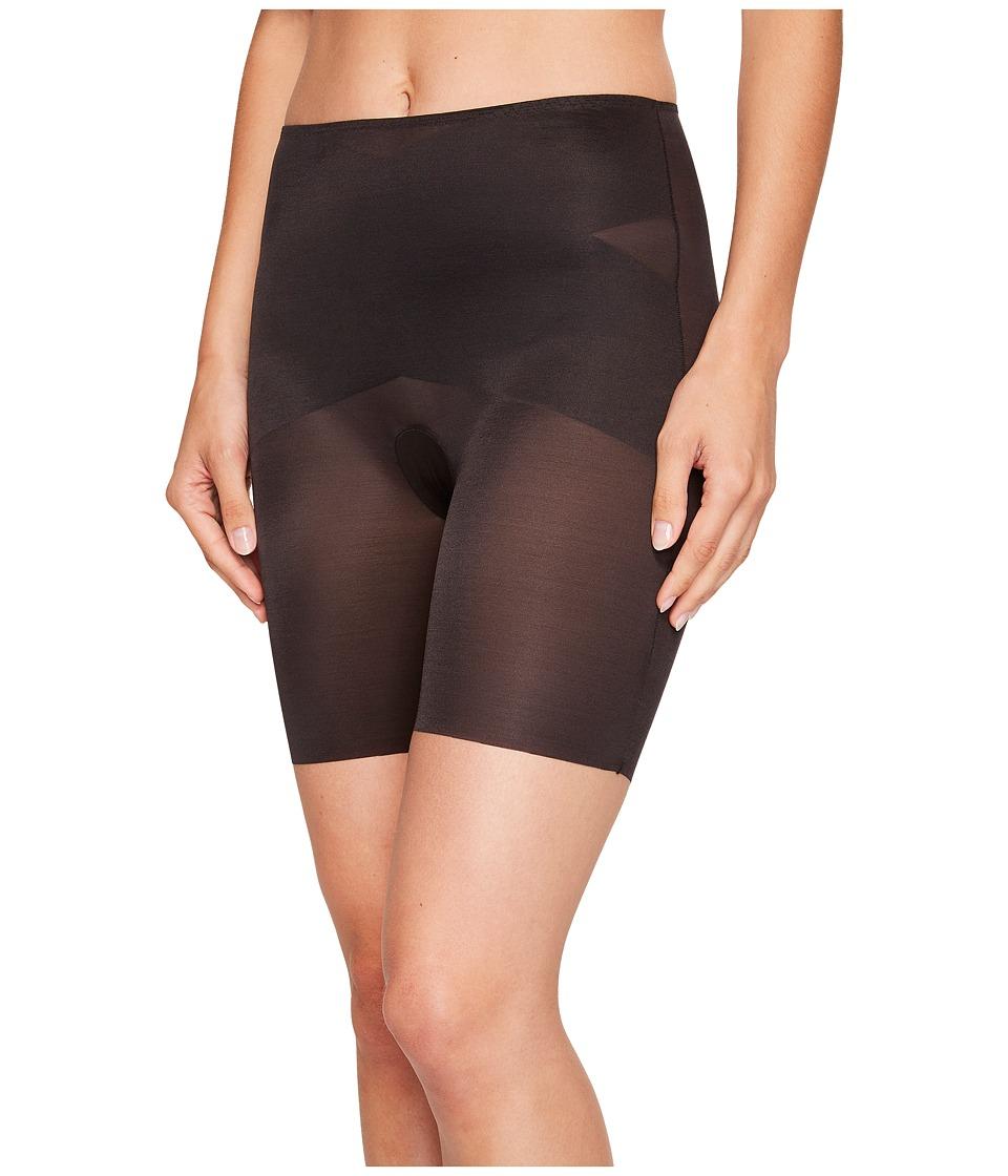 Spanx Skinny Britches Super Mid Thigh Shaper Black Womens Underwear