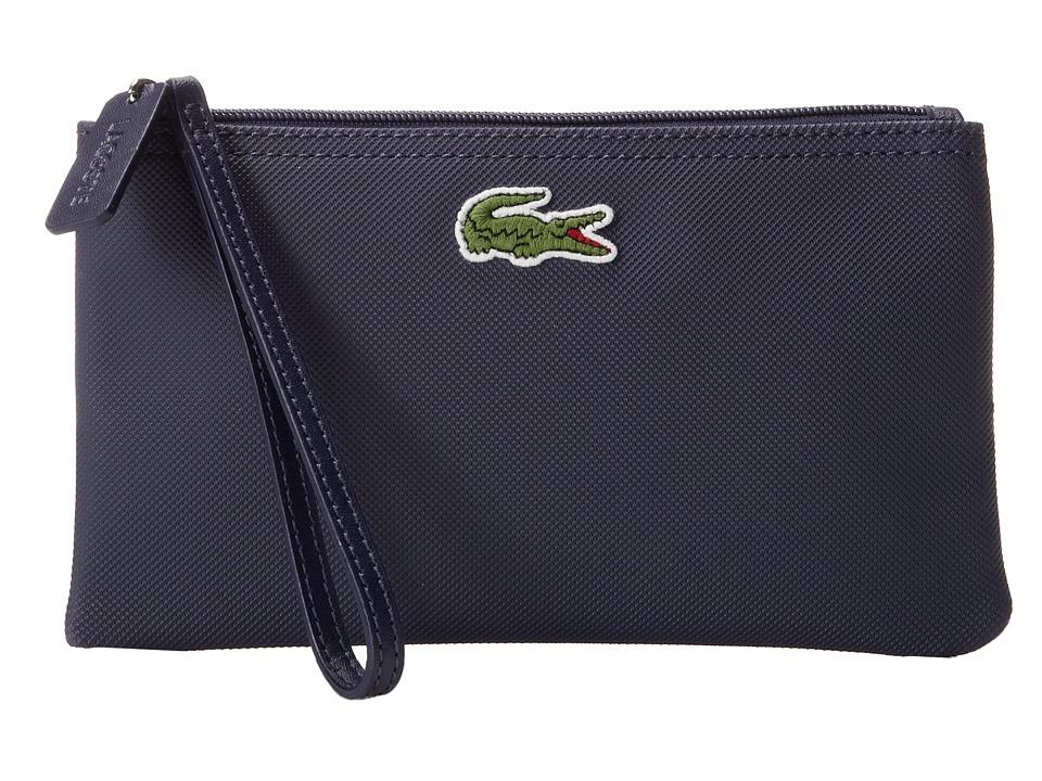 Lacoste - L1212 Wristlet (Shadow Blue) Clutch Handbags