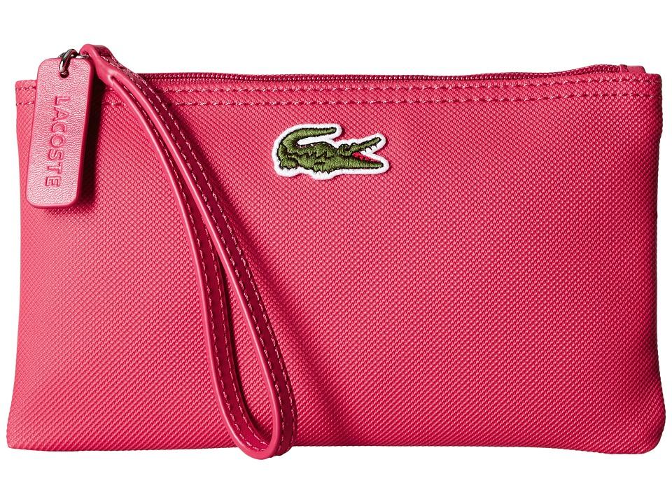 Lacoste - L1212 Wristlet (Petunia Pink) Clutch Handbags