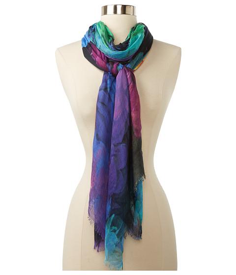 echo design photographic floral wrap scarf 6pm