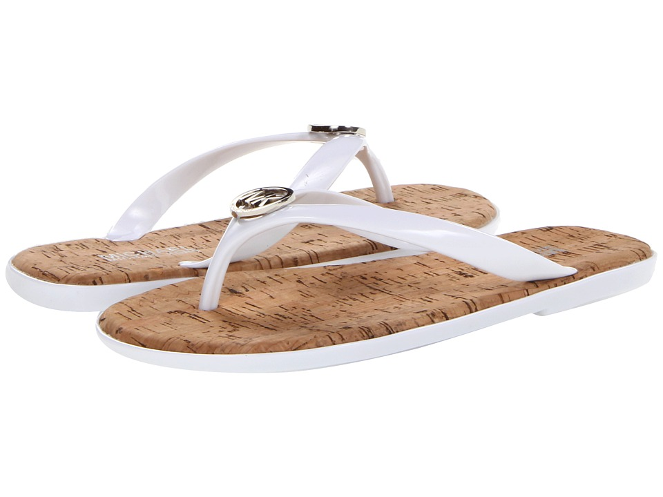 MICHAEL Michael Kors Jet Set MK Jelly (Optic White Pvc) Women's Sandals