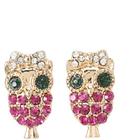 Betsey Johnson - Enchanted Forest Owl Stud Earrings
