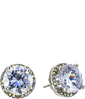 Betsey Johnson - Crystal Rhodium Crystal Stud Medium Earrings