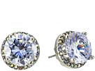 Crystal Rhodium Crystal Stud Medium Earrings