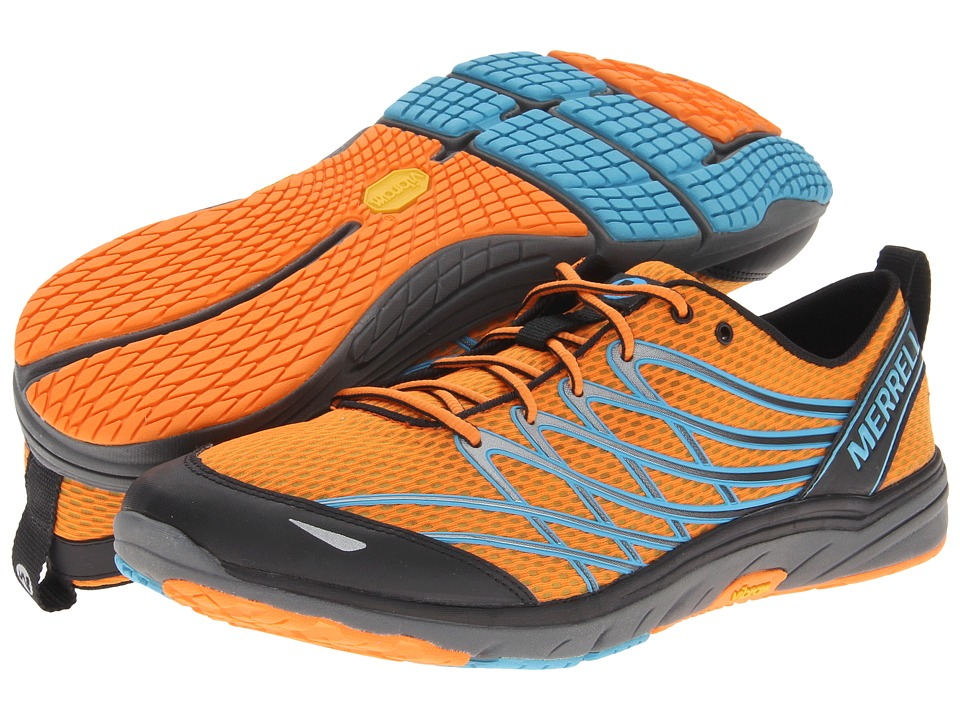 Merrell Bare Access 3 (Orange Peel/Blue) Men's Running Shoes