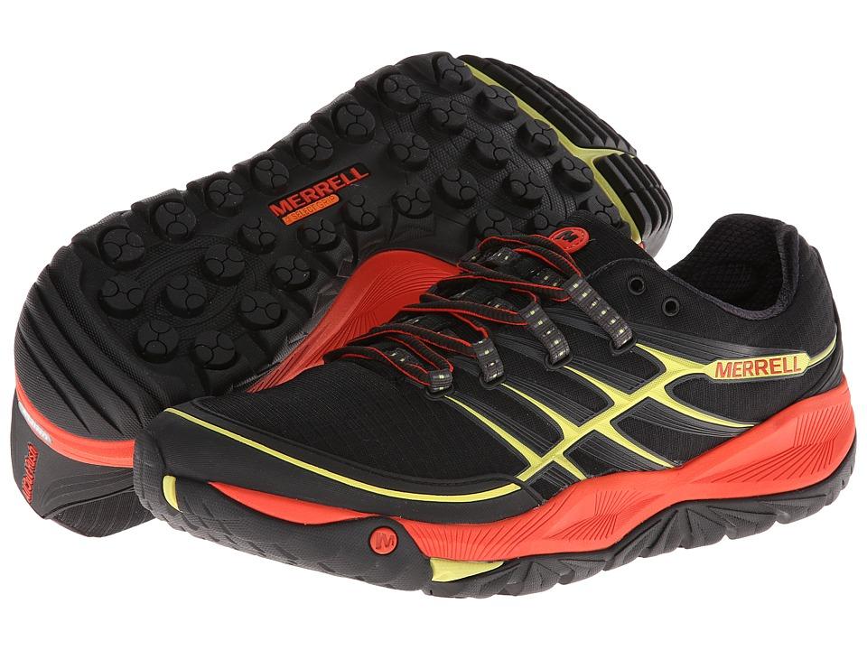 Image of Merrell Allout Rush (Black/Lantern) Men's Shoes