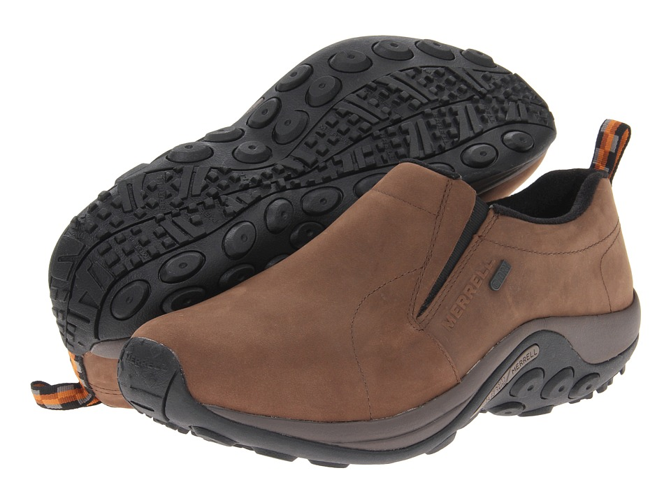 Merrell Jungle Moc Nubuck Waterproof (Brown) Men's Shoes