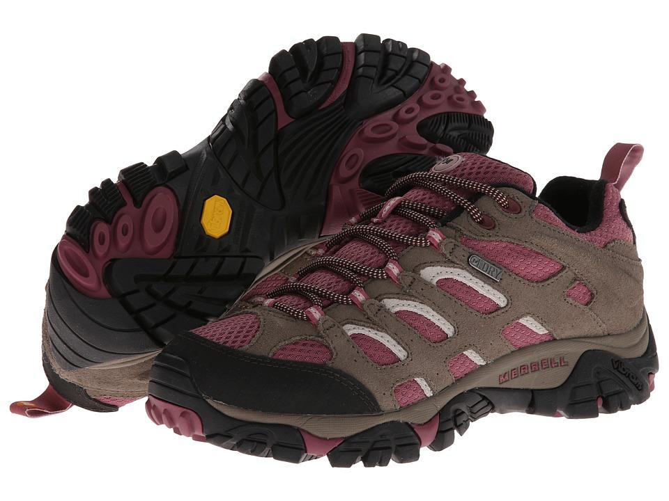 Merrell Moab Waterproof (Boulder/Blush) Women's Shoes
