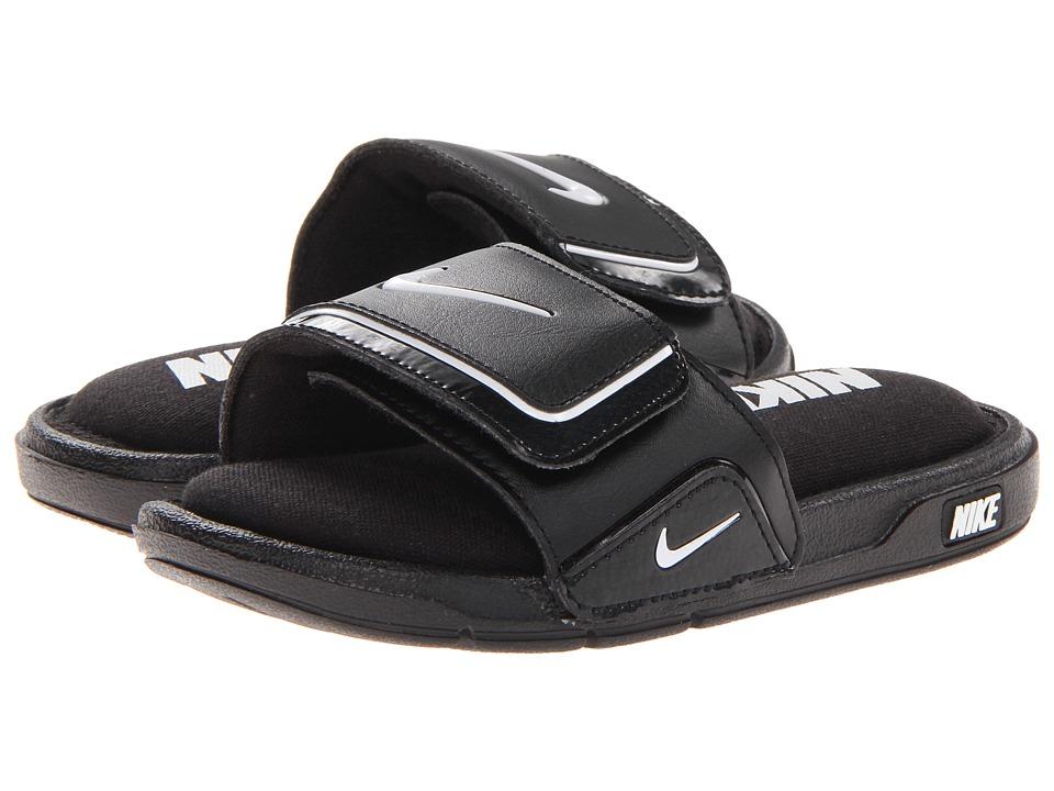 Nike Kids Comfort Slide 2 Little Kid/Big Kid Black/White Kids Shoes