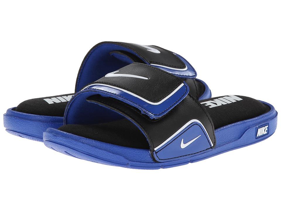 Nike Kids Comfort Slide 2 Little Kid/Big Kid Game Royal/Black/White 4 Kids Shoes